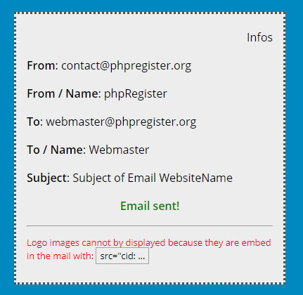 phpRegister: Email testing